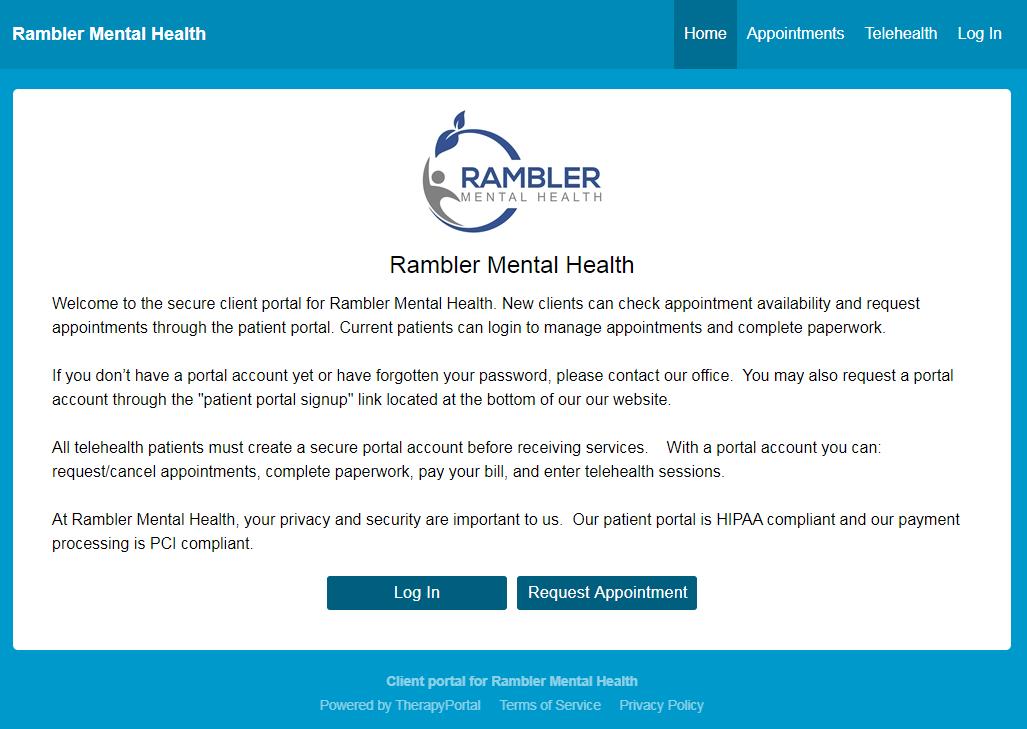 Rambler Mental Health, Patient Portal, Mental Health Services in Toms River, NJ